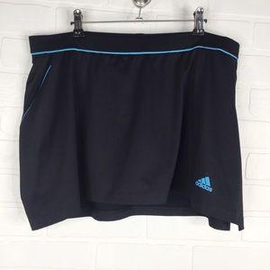 Adidas Tennis Skort Black Blue Large Athletic